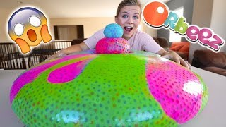 GIANT ORBEEZ WATER BALLOON! What Happens?!