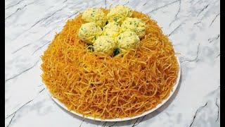 """Салат """"Гнездо Глухаря"""" / Праздничный Салат / Салат с Мясом / Salad With Meat Recipe"""