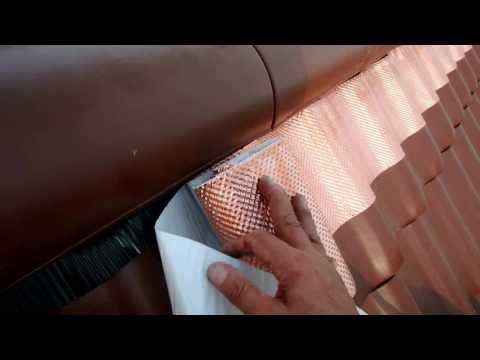 Kupferband auf dem Dach: Schutz gegen Moos