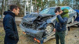 Вадим разбил Mercedes