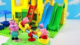 Peppa Pig Blocks Mega House Construction Set With Water Slide Lego Building #6