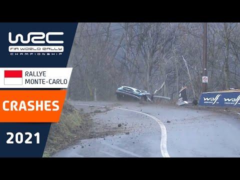 WRC 2021 開幕戦のラリーモンテカルロ 衝撃のクラッシュ映像まとめ