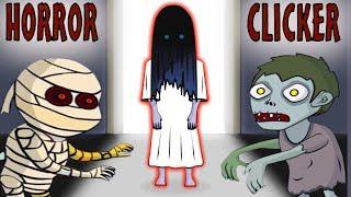 Сражаюсь с ХОРРОР БОССАМИ! Приведение Скелет Зомби Самара и Мумия в игре Хоррор Кликер от Cool GAMES