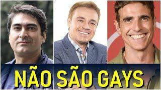 FAMOSOS QUE NÃO SÃO GAYS E MUITOS PENSAM QUE SÃO