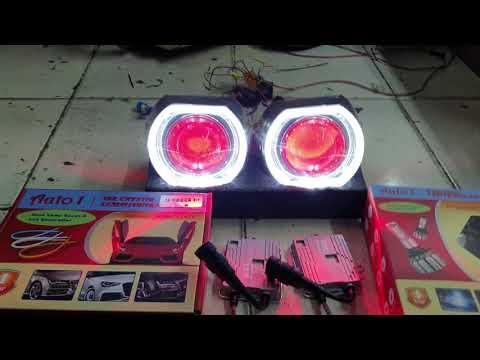 Solusi lampu mobil lebih terang fokus nyorot lebar no silau Auto1 HID Projie 3.0 + led fog n highbea
