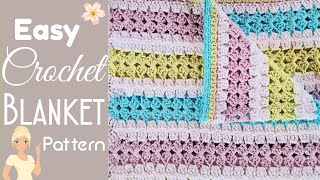 Easy Breezy Mile A Minute Crochet Baby Blanket Pattern