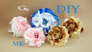 Канзаши МК. Резинка для волос и новый цветок / Kanzashi MK. Scrunchie and a new flower