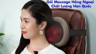 Video Gối massage hồng ngoại Hàn Quốc Puli PL-819C - 6 bi model 2019