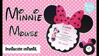 MINNIE MOUSE - Invitacion Infantil (DIY)   Party Pop!🎉  