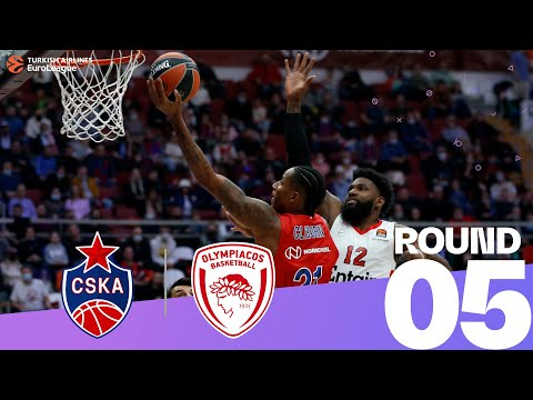 RS Round 5 Highlights: CSKA 88-82 Olympiacos