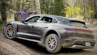 """The Porsche Taycan Cross Turismo Has A """"Gravel Mode"""" - And I Try It!"""