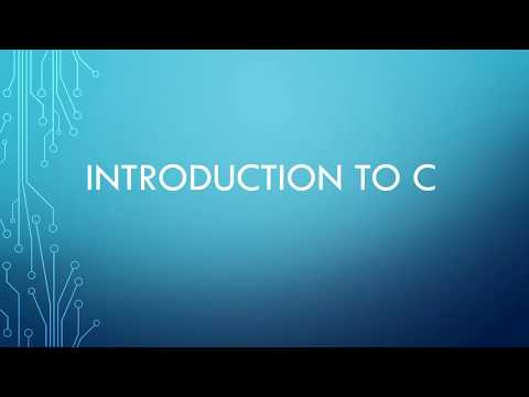 Intro to C for Java Programmers