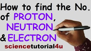 How to find the number of protons, neutrons and electrons in atoms and ions