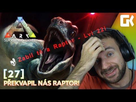 PŘEKVAPIL NÁS RAPTOR!   Ark Survival Evolved #27