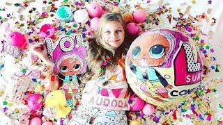 GIANT LOL 3 series 💖  Новый ЧЕЛЛЕНДЖ 💖 GIANT LOL  CONFETTI POP 💖  Видео для детей