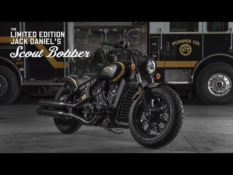 2018 Indian Scout® Bobber Jack Daniel's® in Mineola, New York - Video 1