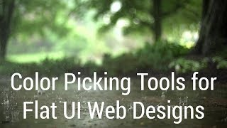 Color Picking Tools For Flat UI Web Designs
