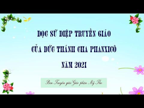 Đọc Sứ Điệp Truyền Giáo năm 2021, của Đức Thánh Cha Phanxicô