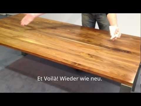 Holzpflege Massivholztisch - make it self