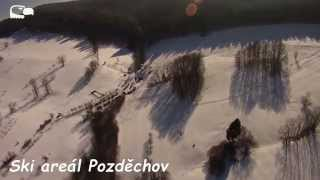 preview picture of video 'Winter ski area - region Zlín 2015, Hang Gliding - Rogalo'