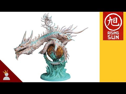 Rising Sun Painting: River Dragon