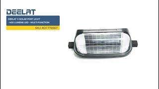 DEELAT ® Solar Post Light - 400 Lumens LED - Multi-Function SKU #D1778567