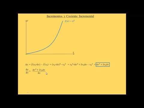 2 - Cociente incremental (Ejemplo Numerico) - CBC UBA