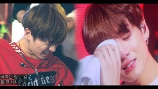 [TOUCH] BTS x Injured and Exhausted moments ~ BTS reaction (feel sorry, crying and keep performing)