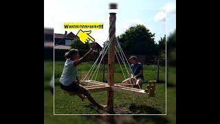 Spielgeräte Holz Ideen, Stelzenhaus mit Rutsche, Karussell, Abendteuerspielplatz