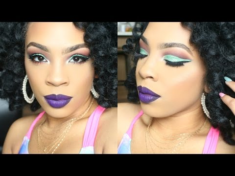 SPRING 2017 MAKEUP | Green Cut Crease