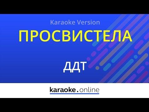 Просвистела - ДДТ (Karaoke version)