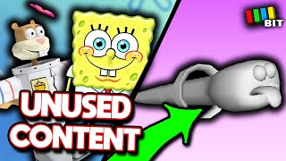 Spongebob Battle for Bikini Bottom LOST BITS | Cut Content & Unused Stages [TetraBitGaming]