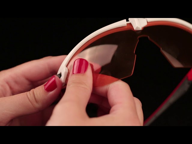 Видео Очки HQBC Qert Plus красно-черные / RedRevo