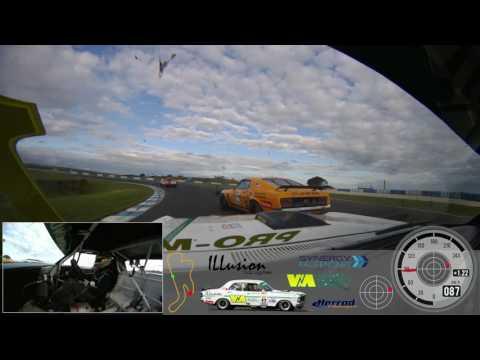 Steve Johnson Touring Car Masters 2016 Race 3 Phillip Island VBOX Video HD2
