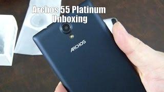 Archos 55 Platinum Unboxing