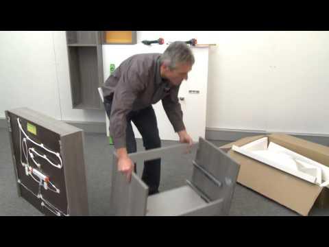 burgbad: Montage-Film cconceptwall Badmöbel-Anlage