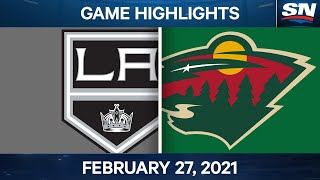 NHL Game Highlights | Kings vs. Wild - Feb. 27, 2021 by Sportsnet Canada