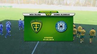 Prípravný zápas: MŠK Žilina - Sigma Olomouc 2:1 (1:0)