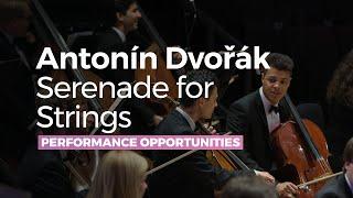 Antonín Dvořák Serenade For Strings in E major Op.22, complete - RNCM String Ensemble