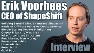 Erik Voorhees Talks About Bitcoin, Altcoins, Gold, Money, Business, Freedom. Interviewed by Ashe Oro