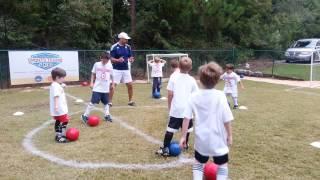 Soccer (5 & 6 yrs):  Dribbling Warm-up Activity