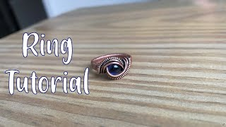 Full Length Wire Wrapped Ring Tutorial With Undrilled Stone