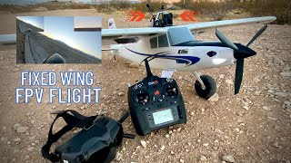 DJI FPV + E-flite Turbo Timber! Learning how to fly FPV on fixed wing