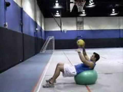 Single Arm Medicine Ball Pullover Throw