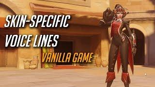 Overwatch - All Skin-specific voice lines (Vanilla version)