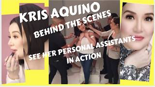 KRIS AQUINO PERSONAL ASSISTANTS BRINGING US THE BEAUTIFUL KRIS AQUINO  IMAGE ONSCREEN