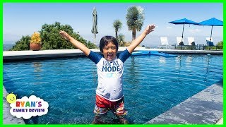 Ryan's Family New House Tour and New Swimming Pool!!!!