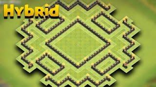 TH 9 Hybrid Base (Nox Player) | COC Town Hall 9 Hybrid Base | Clash Of Clans