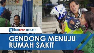 Video Viral Seorang Polisi Gendong Penumpang TransJakarta yang Terkena Serangan Jantung