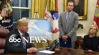 Trump faces backlash for comments on Hurricane Florence prep